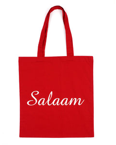 Red Salaam Tote Bag