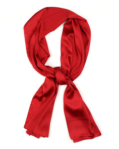 Red satin scarf