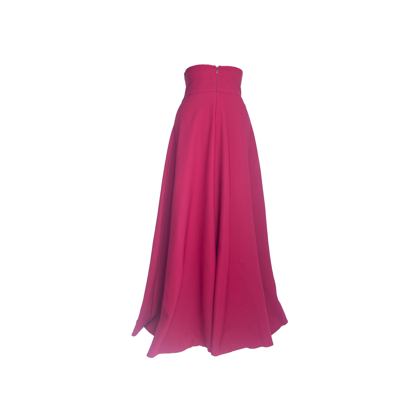 Maroon high waist maxi skirt with back zip