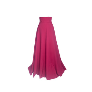 High waist Maroon long skirt