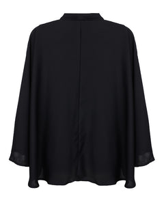 Backview of black kimono