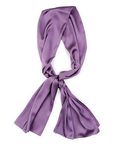 Purple satin scarf