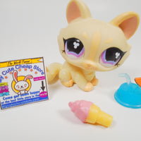 Littlest Pet Shop Crouching cat #848 with accessories - My Cute Cheap Store