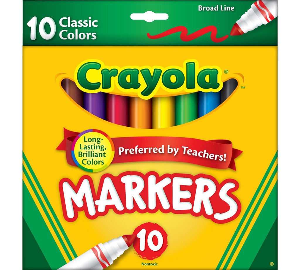 Crayola Markers Broad Line 10ct Classic - My Cute Cheap Store