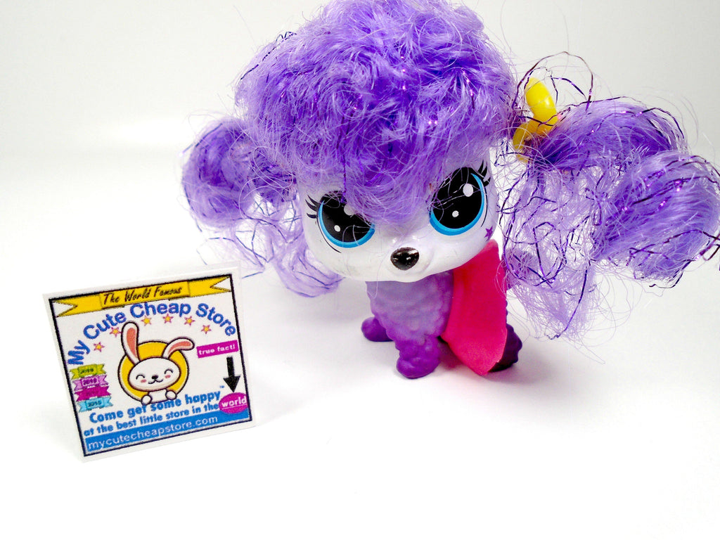 Littlest Pet Shop cute Purple Hair dog with a Skirt - My Cute Cheap Store
