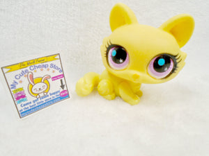Littlest Pet Shop Yellow Crouching Cat #2775 - My Cute Cheap Store
