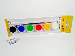 Set of 6 color paint with a brush - My Cute Cheap Store