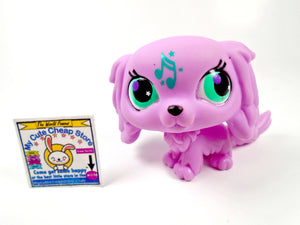 Littlest Pet Shop Pink King Charles dog Music Note #2880 - My Cute Cheap Store