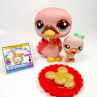 Littlest Pet Shop Mommy and Baby Swan#2503 and #2504 - My Cute Cheap Store