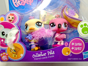 Littlest Pet Shop Collector Pets Flamingo #1826 and #1827 NIB - My Cute Cheap Store