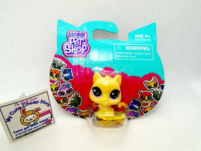 Littlest Pet Shop Cute Yellow Mini Cat NIB - My Cute Cheap Store