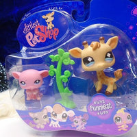 Littlest Pet Shop Funniest Giraffe #632 and Mouse #633 set new in box - My Cute Cheap Store