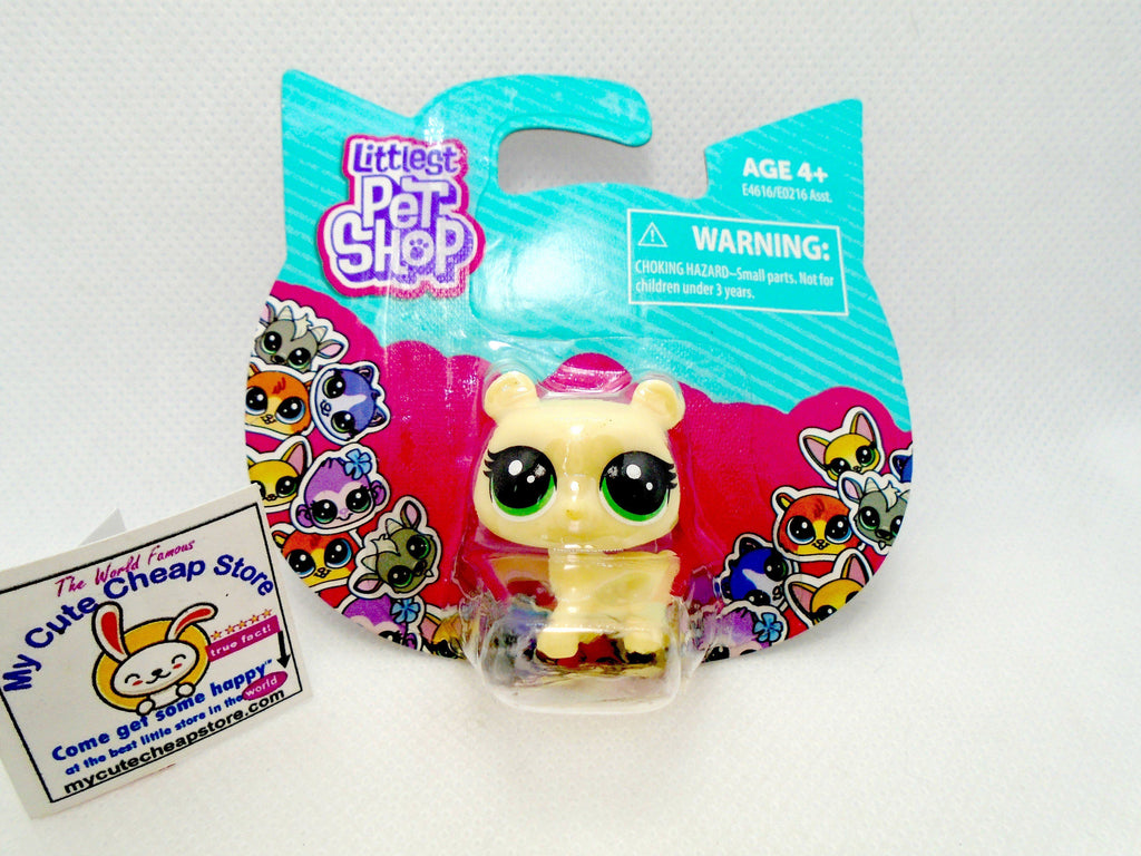Littlest Pet Shop Mini Yellow Bear NIB - My Cute Cheap Store