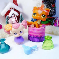 Littlest Pet Shop set of 2 pets Poodle and Cat with  Salon Accessories - My Cute Cheap Store