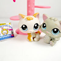 Littlest Pet Shop Baby Kitten #198 and #134 with a cat tree - My Cute Cheap Store