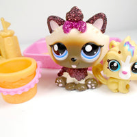 Littlest Pet Shop Glitter Himalayan cat #2143 with accessories - My Cute Cheap Store