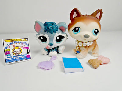 Littlest Pet Shop Mommy and Baby Husky with accessories - My Cute Cheap Store