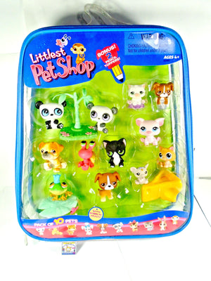 Brand New! Littlest Pet Shop Pack of 10 Pets plus 2 Pencil Toppers NIB - My Cute Cheap Store