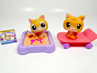 Littlest Pet Shop set of 2 kittens #47 and #86 with accessories - My Cute Cheap Store
