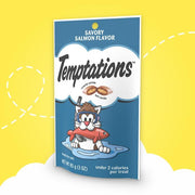 Temptations 3 oz Adult Savory Salmon Flavor Cat Treats - My Cute Cheap Store