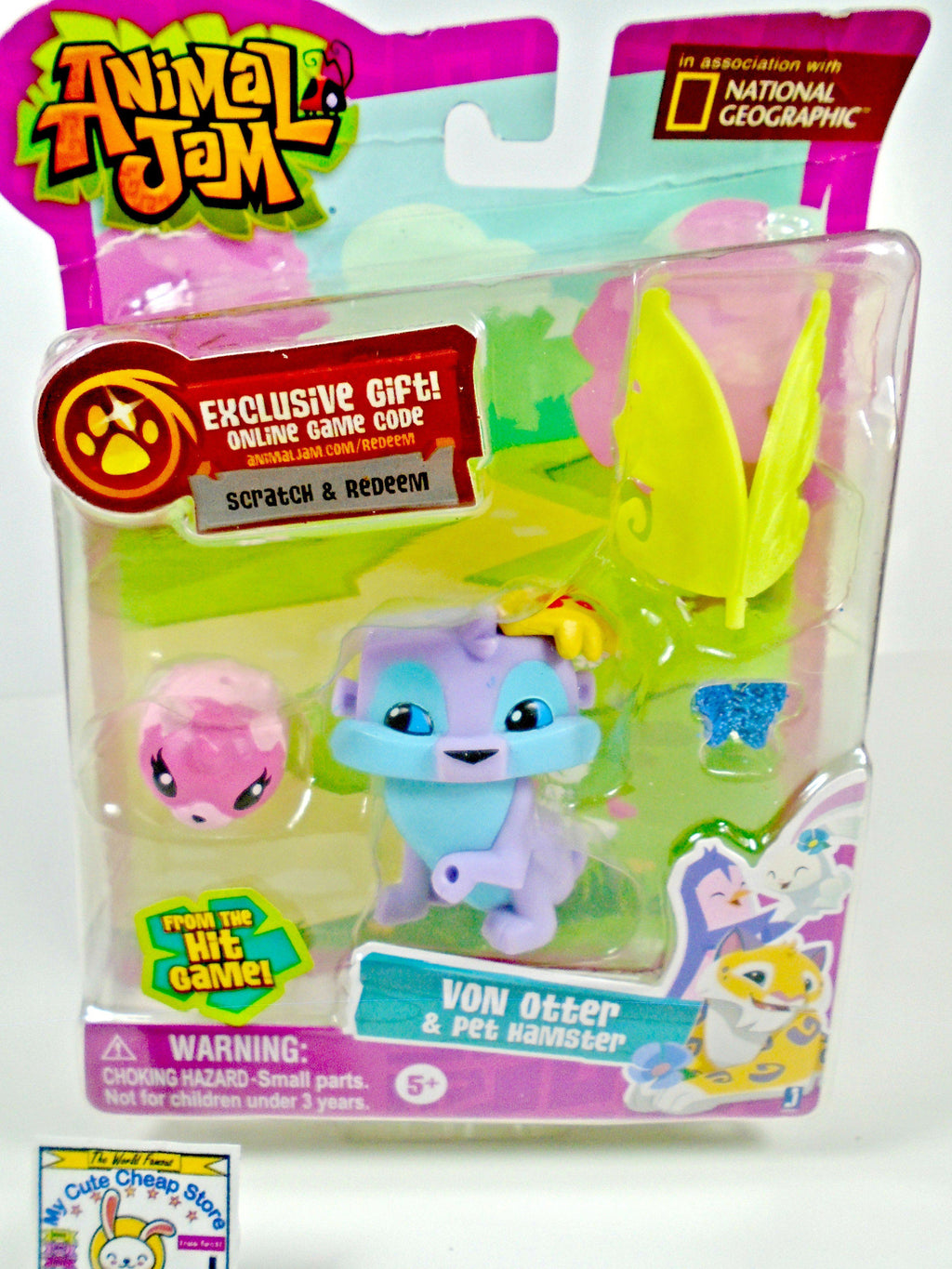 Animal Jam Lucky Von Otter Collectible Figure - My Cute Cheap Store