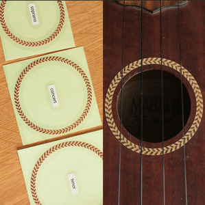 Rosette Herringbone, Inlay Sticker