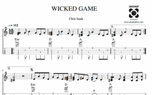 UKULELE TABS: Wicked Game (Chris Isaak) - Chord Melody (HIGH & LOW G)