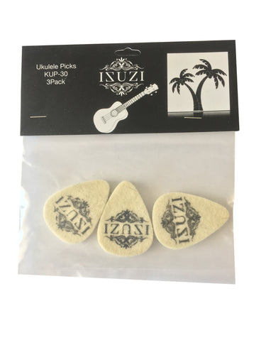 Felt ukulele pick (3 pack)