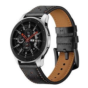 TECH-PROTECT LEATHER SAMSUNG GALAXY WATCH 46MM BLACK