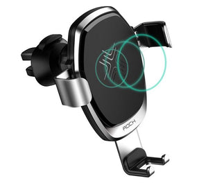 ROCK GRAVITY VENT CAR MOUNT WIRELESS CHARGER GREY