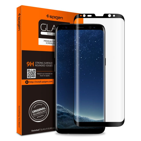 TVRZENÉ SKLO SPIGEN GLAS.TR CASE FRIENDLY GALAXY S8+ PLUS BLACK