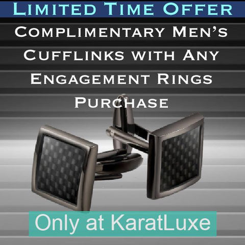 Free Men's Cufflinks with Engagement Ring Purchase