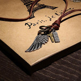 Wild West Vintage Styled Pendants with Genuine Leather Necklaces