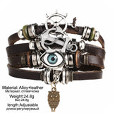 Nautical Leather Bracelets