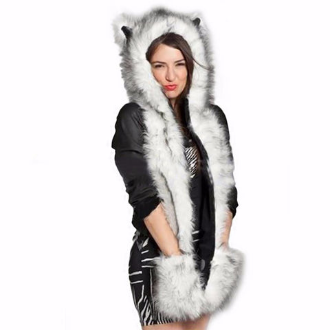 Wild and Furry™ Animal Hood, Scarf, and Glove Combo
