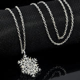 Lady Winter Crystal Snowflake Necklace
