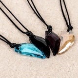 Wild Wilderness Crystal Wolf Fang Necklace