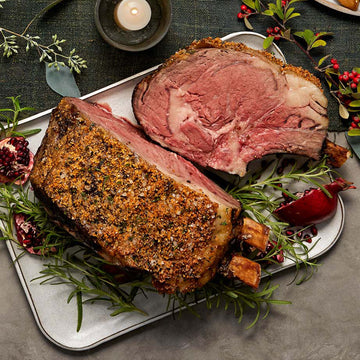 Standing Rib Roast with Garlic, Rosemary, and Tri-Colored Peppercorn Rub
