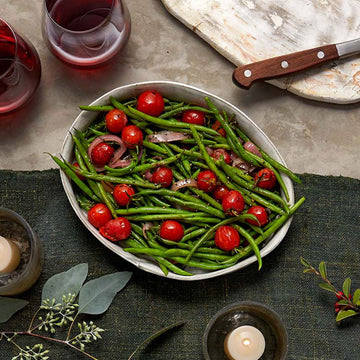 Thin Green Beans with Lemon & Roasted Cherry Tomatoes