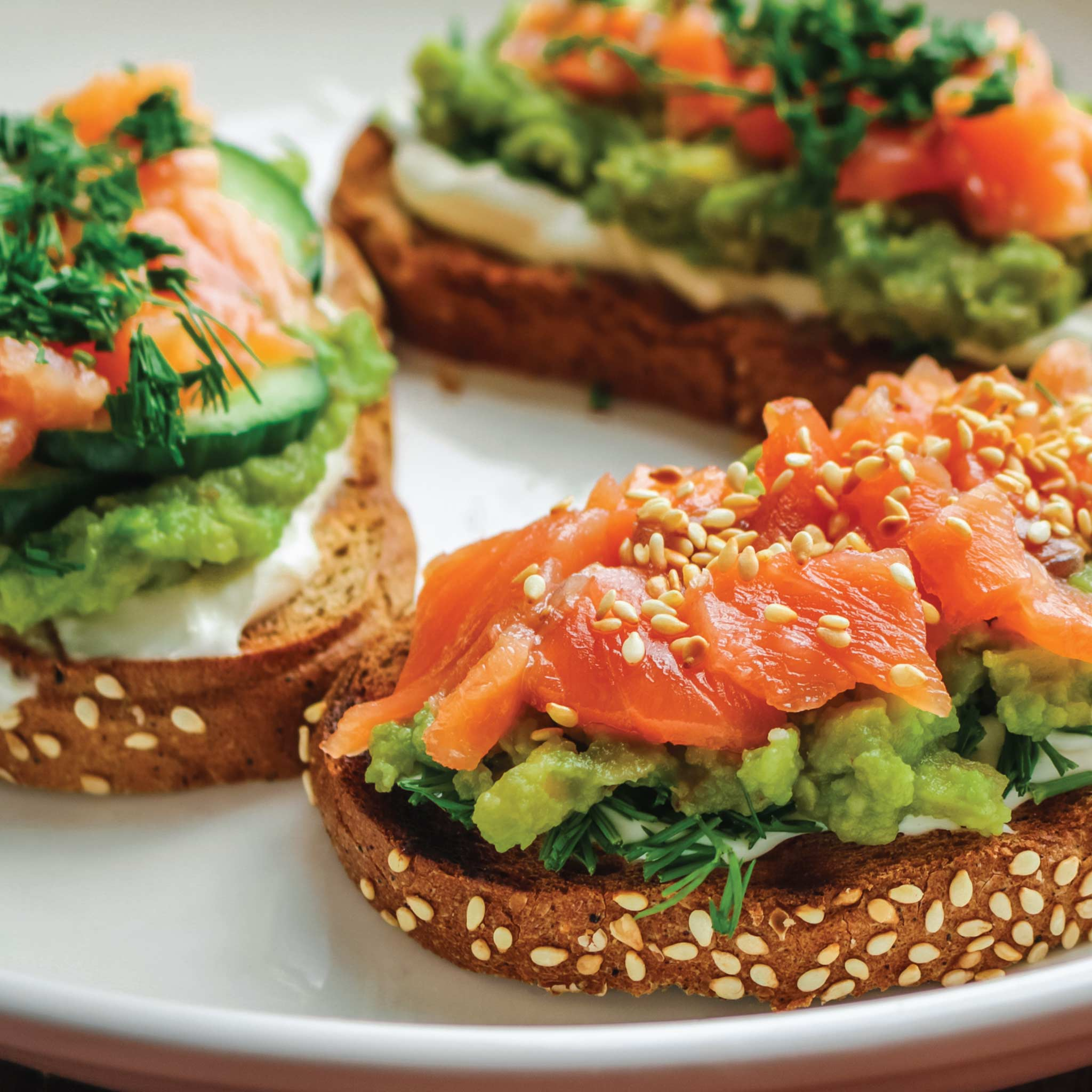 Avocado Toast  with Gravadlax Smoked Salmon