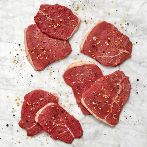 USDA Choice Grass Fed Boneless Beef Eye of Round Steak Thin