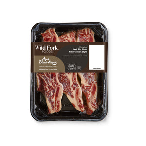 Black Angus Bone-In Beef Rib Short Ribs Flanken Style Packaging