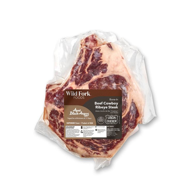 Black Angus Bone-In Beef Cowboy Steak - Black Angus Bone-In Beef Cowboy Steak Package