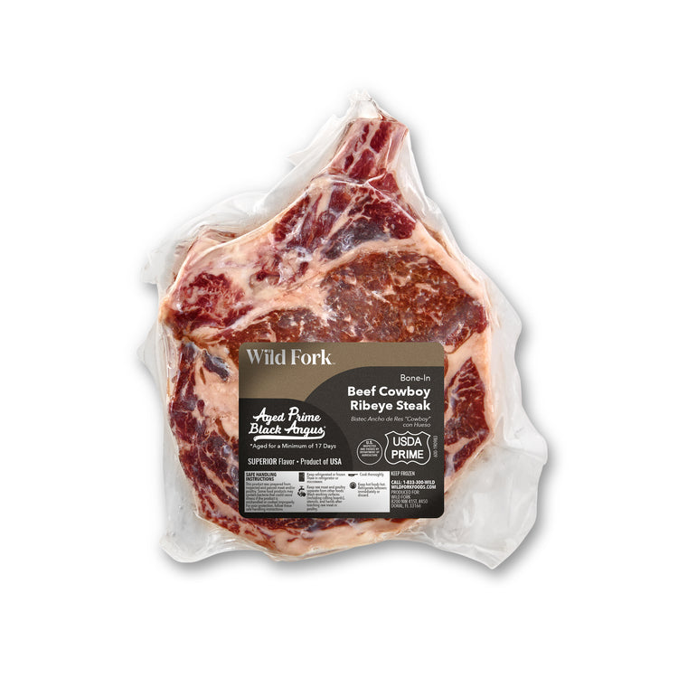 Prime Black Angus Bone-In Beef Cowboy Steak - Prime Black Angus Bone-In Beef Cowboy Steak Package