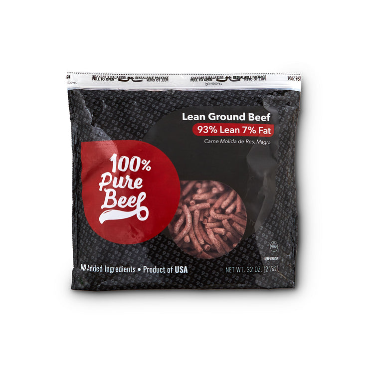 Lean Ground Beef 93% Lean 7% Fat - Lean Ground Beef 93% Lean 7% Fat Package