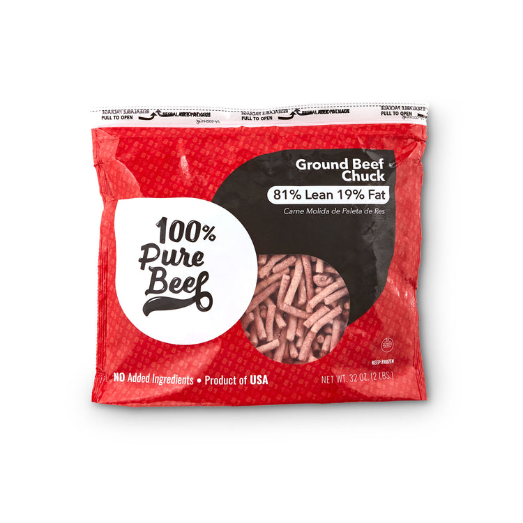 Ground Beef Chuck	81% Lean 19% Fat - Ground Beef Chuck	81% Lean 19% Fat Package