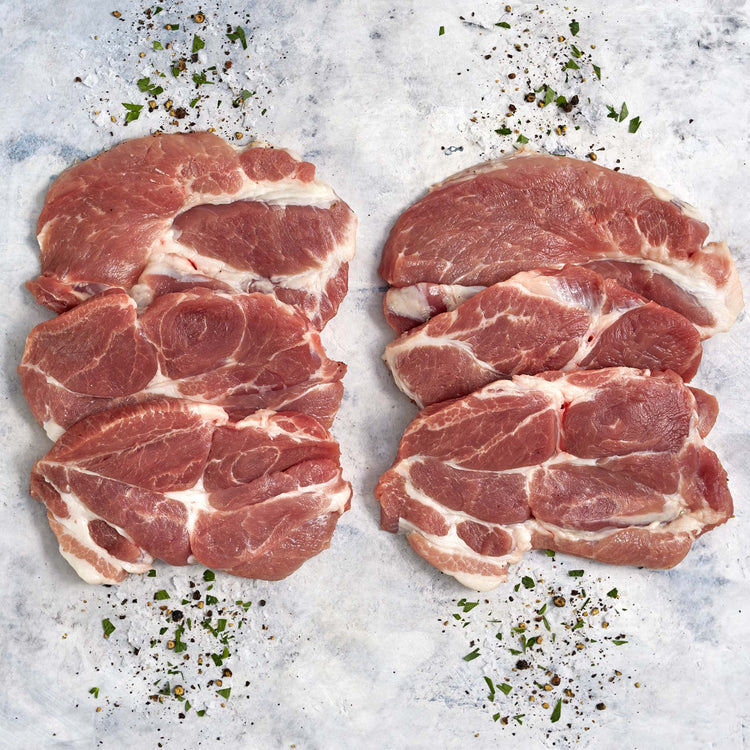 Boneless Thin Coppa Pork Steaks - Boneless Pork Thin Coppa Steaks
