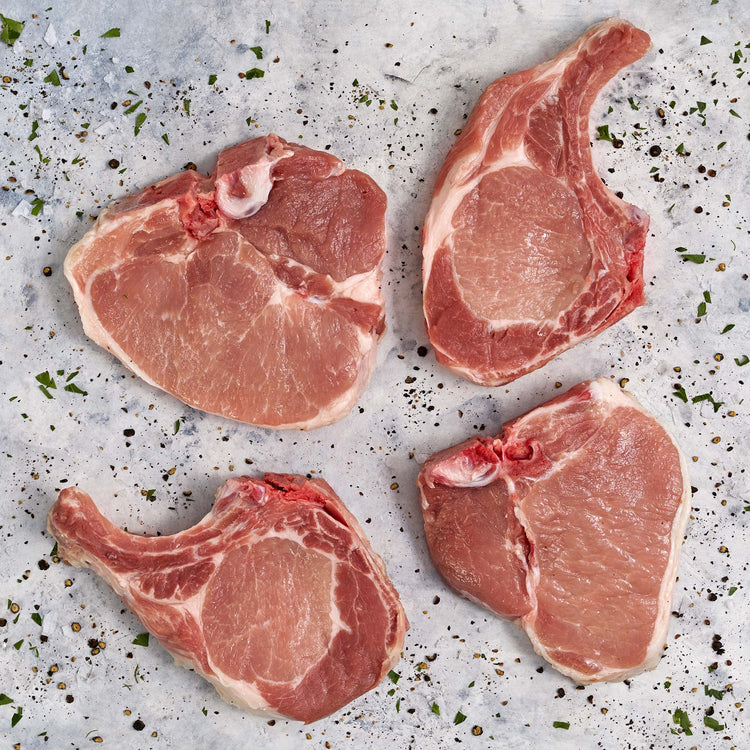 Bone-In Pork Thin New York Chops* - Bone-In Pork Thin New York Chops Enhanced up to 12% solution*