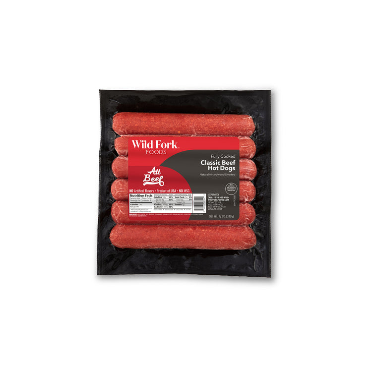 Fully Cooked Beef Classic Hot Dogs - Fully Cooked Beef Classic Hot Dogs