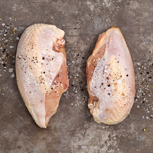 Bone-In Split Chicken Breast Enhanced up to 15% solution*